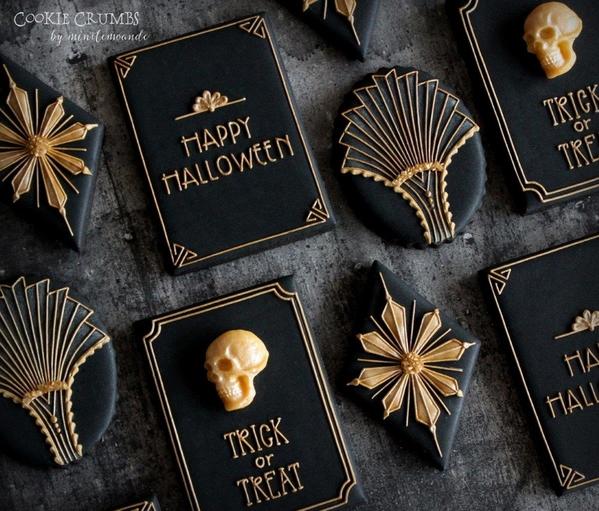 #2 - Art Deco Halloween Cookies by mintlemonade (cookie crumbs)