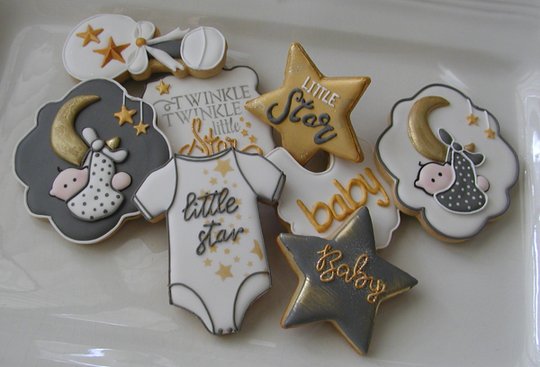 #4 - Twinkle Twinkle Little Star Baby Shower by Cookies Fantastique by Carol