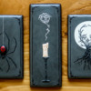 Gothic Candle with Spooky Smoke: Cookies and Photo by Aproned Artist
