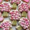 Pink Bouquets and Hearts: Cookies and Photo by Anne Yorks