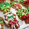 Christmas Wreaths: Cookies and Photo by Anne Yorks