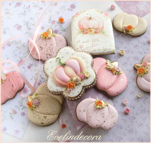 #7 - Pastel Pink Pumpkins by Evelindecora