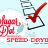 Sugar Dot Surveys Banner: Speed-Drying: Logo Courtesy of Sugar Dot Cookies; Free Survey Clip Art from clipartxtras.com; Graphic Design by Julia M Usher