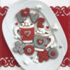 Valentine's-Themed Cookie Platter: Design, Cookies, and Photo by Manu