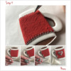 Steps 4a and 4b - Add Details to Felt Warmer: Design, Cookie, and Photos by Manu