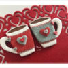 Two Mugs, All Decorated!: Design, Cookies, and Photo by Manu