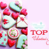Top 10 Valentine's Day Cookies Banner: Cookies and Photo by rainbow_chima; Graphic Design by Julia M Usher