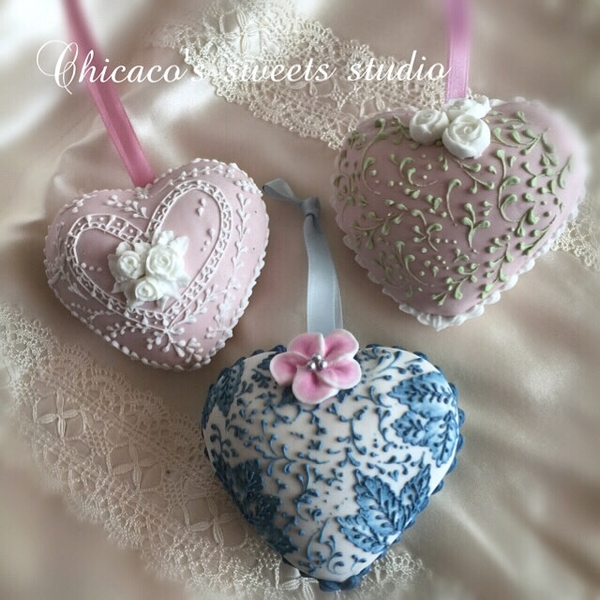 #9 - 3-D Valentine's Heart Cookies by Chikako Arai