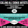 3-D Cookie Art Competition - Casting Call!: Graphic Courtesy of Show Me Sweets and Julia M Usher