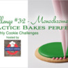 Practice Bakes Perfect Challenge #32 Banner: Photo by Steve Adams; Cookie and Graphic Design by Julia M Usher