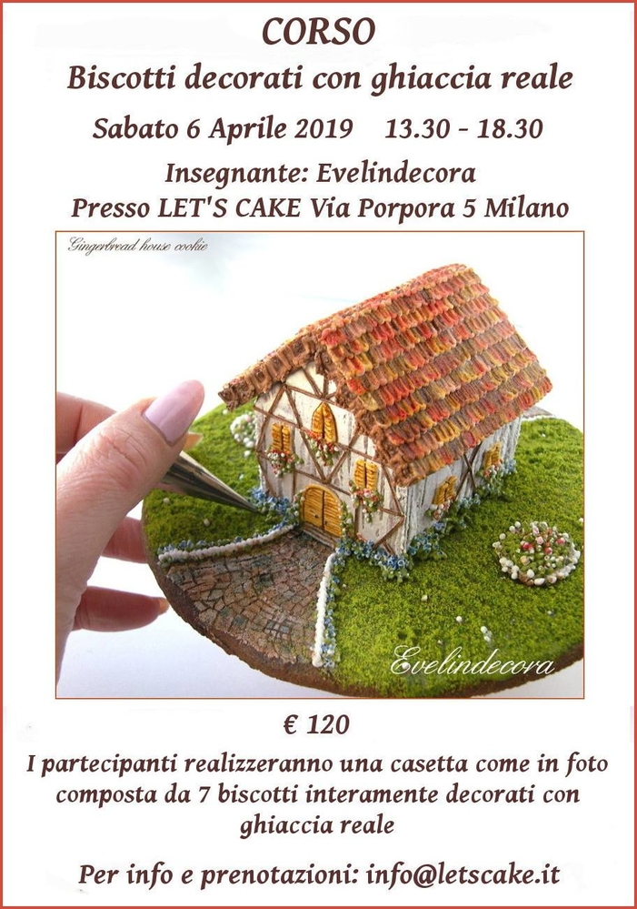 Corso Biscotti Decorati with Evelindecora (Mini 3-D House)