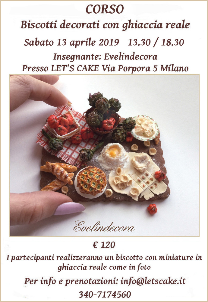Corso Biscotti Decorati with Evelindecora (Miniatures)