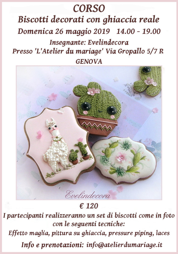 Corso Biscotti Decorati with Evelindecora (Cacti and Llama)