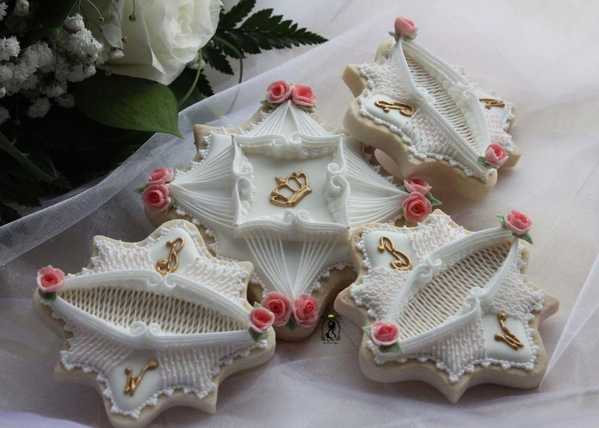 Wedding royal icing cookies