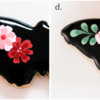 Steps 4c and 4d - Pipe and Marble Pink Flower Centers: Cookie and Photos by Aproned Artist