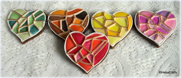 #9 - Geometric Hearts by Heba Elalfy