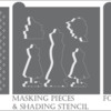 Bridal Party Dynamic Duos™ Background Set Contents: Graphic by Confection Couture Stencils; Stencils Designed by Julia M Usher with Confection Couture Stencils