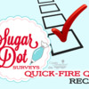Sugar Dot Surveys Quick-Fire Q&A Recap Banner: Logo Courtesy of Sugar Dot Cookies; Free Clip Art; Graphic Design by Julia M Usher