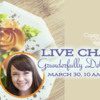 Kristin's Live Chat Banner: Cookie and Photos by Kristin Grunder; Graphic Design by Julia M Usher