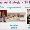 Art & Music Category - Third Place: Slide Courtesy of CookieCon; Cookies by Indicated Artists