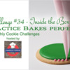 Practice Bakes Perfect Challenge #34 Banner - Inside the Box: Photo by Steve Adams; Cookie and Graphic Design by Julia M. Usher