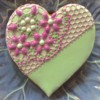 Heart Cookie with Partial SugarVeil® Lace Mat Embellishment: Photo Courtesy of SugarVeil®