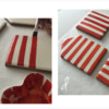 Steps 2c and 2d - Continue Painting Stripes on Hut Sides: Design, Cookies, and Photos by Manu