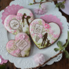 Title Image - A Mother's Day Cookie Set Using Julia's March Stencil Release: Cookies and Photo by Julia M Usher; Stencils Designed by Julia M Usher in Partnership with Confection Couture Stencils