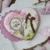 Alternate Title Image - A Single Message Heart Using Both Duos™ Sets: Cookie and Photo by Julia M Usher; Stencils Designed by Julia M Usher in Partnership with Confection Couture Stencils
