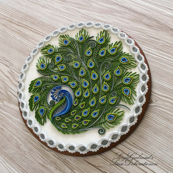 #7 - Quilled Peacock by swissophie