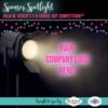 Sponsor Spotlight Banner: Graphic Design by Julia M Usher; Spotlight Clip Art from Shutterstock