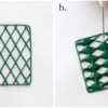 Steps 2a and 2b - Pipe Hot Pad Grid and Fill Alternating Diamonds: Photos by Aproned Artist
