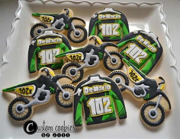 #4 - Custom Jerseys and Dirt Bikes by Jill - Custom Cookies by Jill
