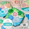 Summer-Themed Stencil Sale: Cookies and Photo by Julia M Usher; Graphic Design by Confection Couture Stencils