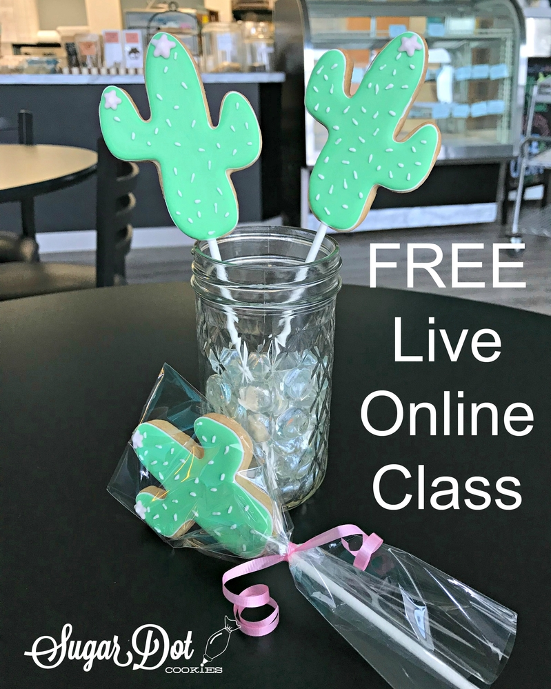 FREE Live Online Class With Dotty from Sugar Dot Cookies