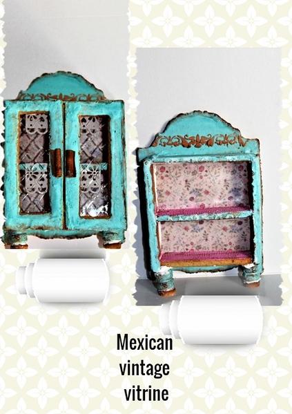 #7 - 3-D Mexican Vintage Vitrine by Petra Florean