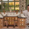 Barbara with Her Gingerbread Replica of the Great House at the Crane Estate: Photo Courtesy of Barbara Smith