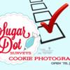Sugar Dot Surveys - Cookie Photography Survey Banner: Logo from Sugar Dot Cookies; Graphic Design by Julia M Usher