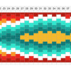 Friendship Bracelet Pattern Diagram: Design by Aproned Artist