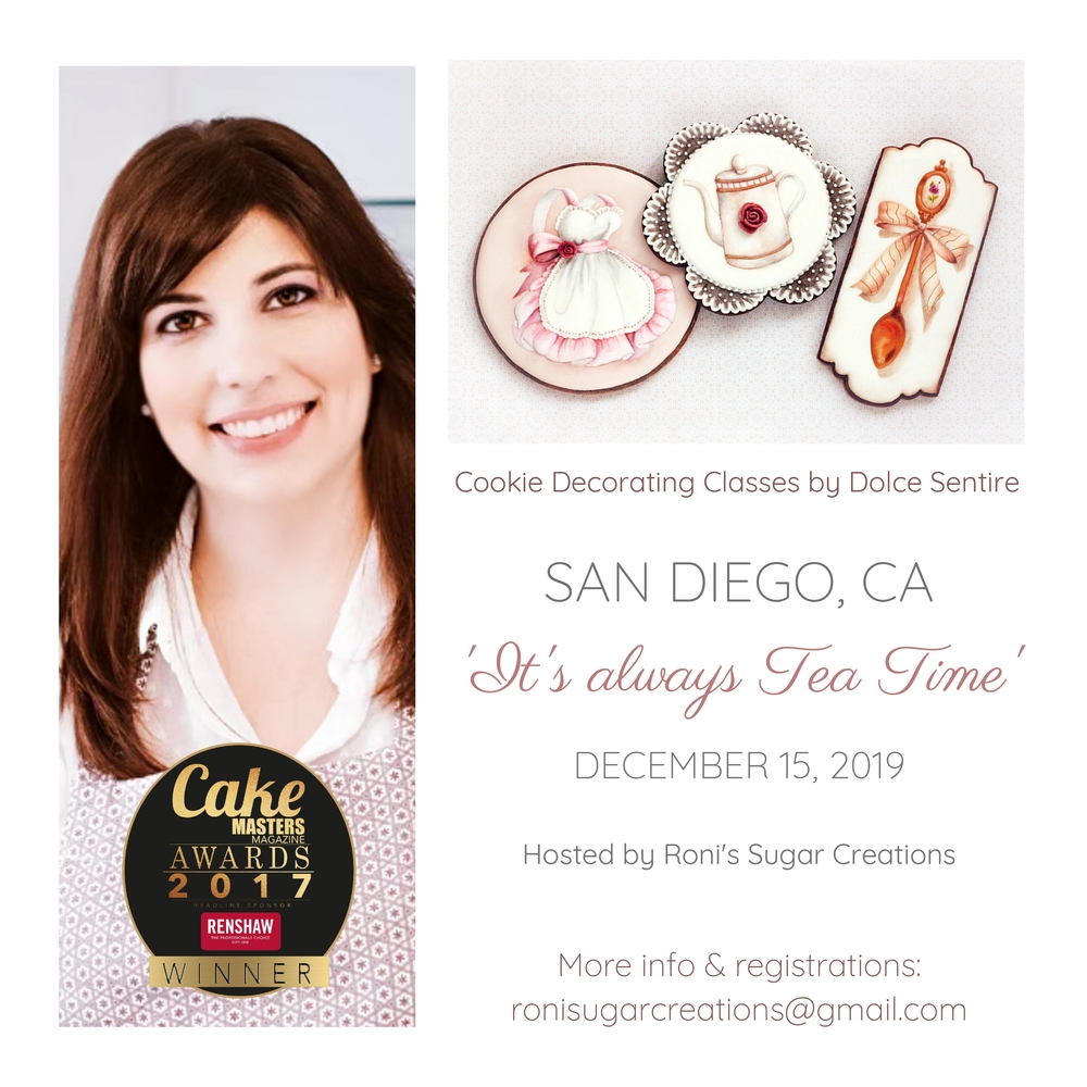 Cookie decorating classes with Dolce Sentire