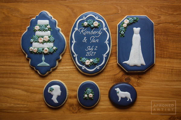 navy bridal shower