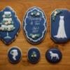 Navy Bridal Shower Set: Cookies and Photo by Samantha Yacovetta