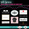 Gold Sponsor Banner - Julia M. Usher's 3-D Cookie Art Competition™: Logos Courtesy of Sponsors; Graphic Design by Julia M. Usher