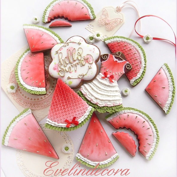 #1 - Watermelon Cookies by Evelindecora