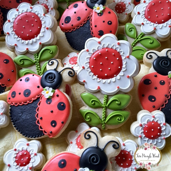 #10 - Happy Flowers and Ladybugs by Teri Pringle Wood