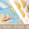 August 2019 Site Banner: Cookies and Photo by Julia M Usher; Graphic Design by Pretty Sweet Designs; Stencils Designed by Julia M Usher with Confection Couture Stencils