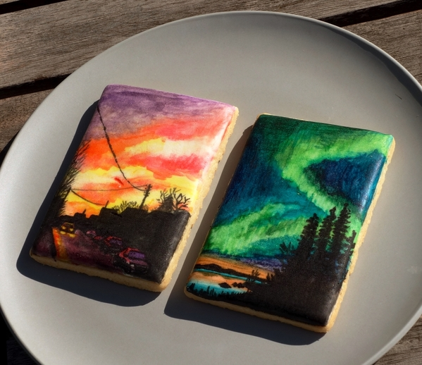 #9 - Suburban Sunset & Northern Lights by Annelise (Le bois meslé)