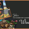 3-D Cookie Competition Saturday Spotlight Banner: Cookies by Artists Listed; Photos and Graphic Design by Julia M Usher