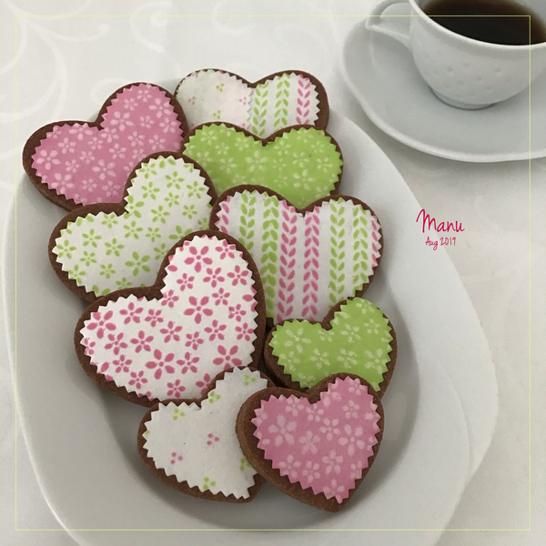 Heart Cookies with Fabric Leftovers