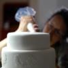 Barbara Piping on Cake: Photo Courtesy of Barbara Smith